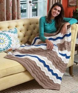 koltuk battaniyesi dalgalı model