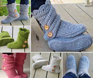 crochet-boots
