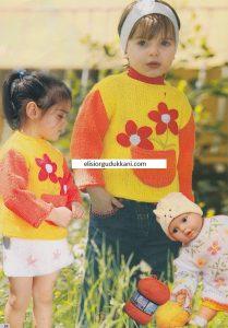 Çiçekli Çocuk Kazak Yapılışı
