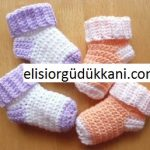 Tığ ile Bebek Çorabı Yapılışı