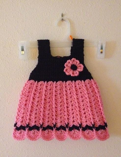 Easy Crochet Baby Dress Free Pattern Elisiorgudukkani