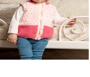 İki Renkli, Kız Bebek Yeleği Yapılışı