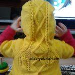 Kapüşonlu Şık Çocuk Yeleği Yapılışı