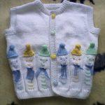 Palyaço Desenli Bebek Yeleği Yapılışı