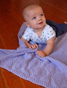 Pirinç Örgü Baklavalı Bebek Battaniyesi Nasıl Örülür?