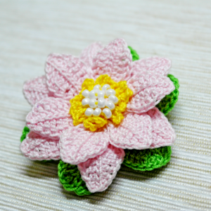 Tığ işi Örgü Lotus Çiçeği Yapılışı