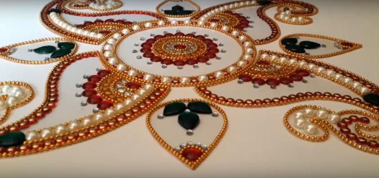 Kundan Rangoli Nasıl Yapılır? videolu