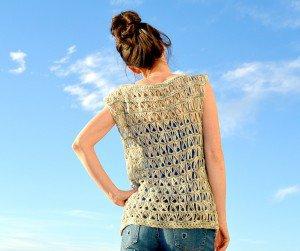 Oklava Örgü Modeli Kısa Kollu Bluz Yapılışı