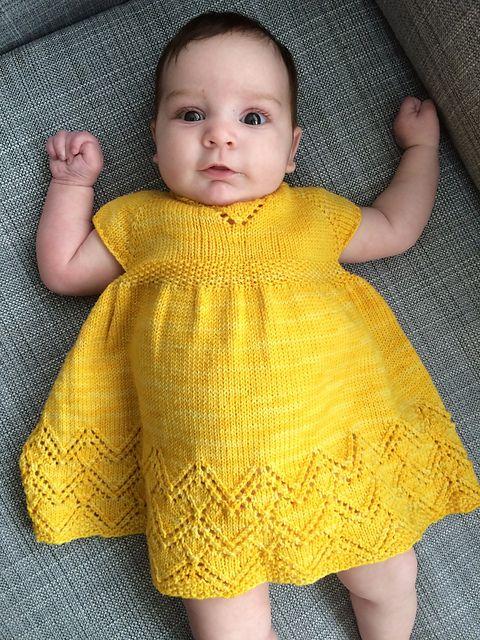 2018-2019 Yeni Örgü Bebek Elbise Modelleri