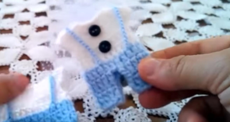Erkek Bebek Örgü Mevlüt Şekeri Süsü Yapılışı
