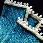Ponpon Kenarlı Tığ işi Bebek Battaniyesi Yapılışı