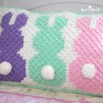 Tığ işi C2C Tavşanlı Yastık Yapılışı