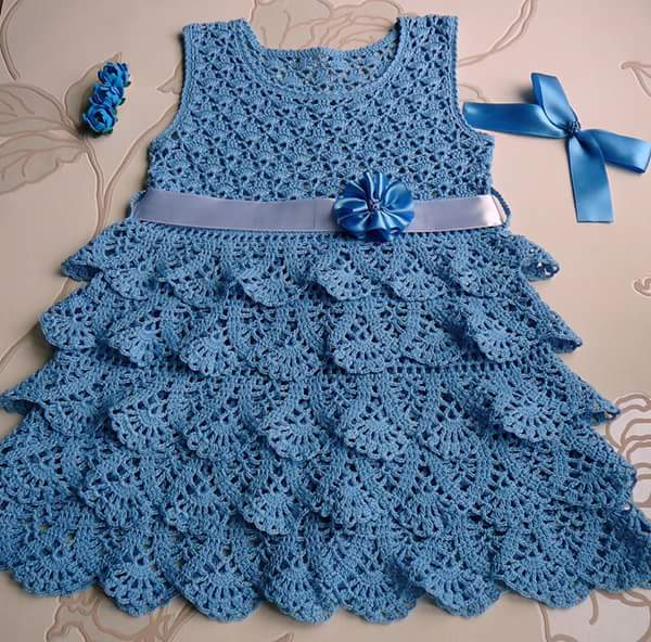 Tığ işi Çocuk Elbisesi Yapılışı