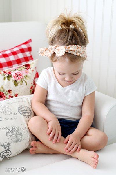 1 Parça Kumaş ile Şık Çocuk Saç Bandı Nasıl Yapılır?