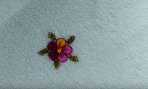 İğne Oyası Menekşe Çiçeği Yapılışı