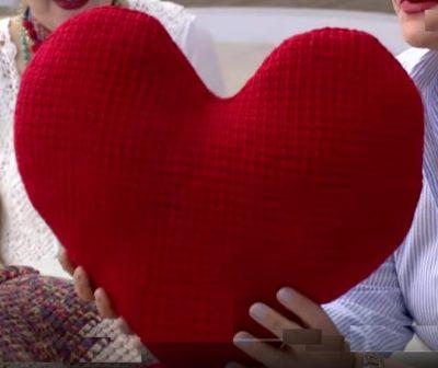 4 Mevsim Kalp Yastık Yapılışı Tığ işi Dekoratif Yastık
