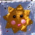 Güneş Motifli Örgü Kırlent ve Battaniye Modeli videolu
