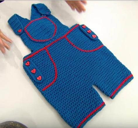 Örgü Bebek Bahçıvan Pantolon Yapımı