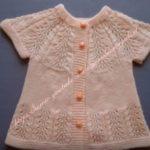 Yakadan Başlama Bebek Yeleği Selvi Dalları Modeli Yapılışı