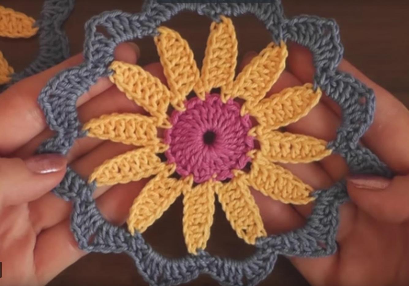 Tığ işi Çiçek Motifleri Anlatımlı Yapılışı videolu