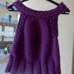 Easy Knitting Baby Dress with Hair Braid Model Free Pattern
