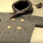 Kışlık Örgü Kapşonlu Bebek Hırkası Yapılışı
