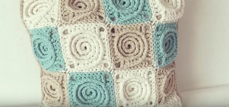 Spiral Gül Örgü Motifi Yapımı Anlatımlı videolu