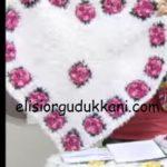 Kalp Şeklinde Çiçekli Paspas Yapılışı Anlatımı