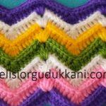 Kabartmalı Zikzak Model Battaniye Yapılışı