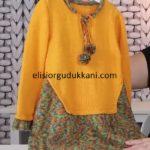 Yeni Model Modern Örgü Kız Çocuk Elbise Yapılışı