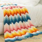 Tığ Örgü Zikzak Renkler Örgü Battaniye Modeli Yapılışı