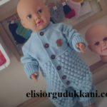 Dikişi Olmayan Örgü Bebek Tulum Tarifi