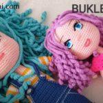 Amigurumi Bebeklere Bukleli Saç Yapılışı