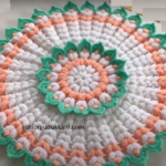 Çok şık çiçek Lif Modeli Yapılışı Yuvarlak Lif